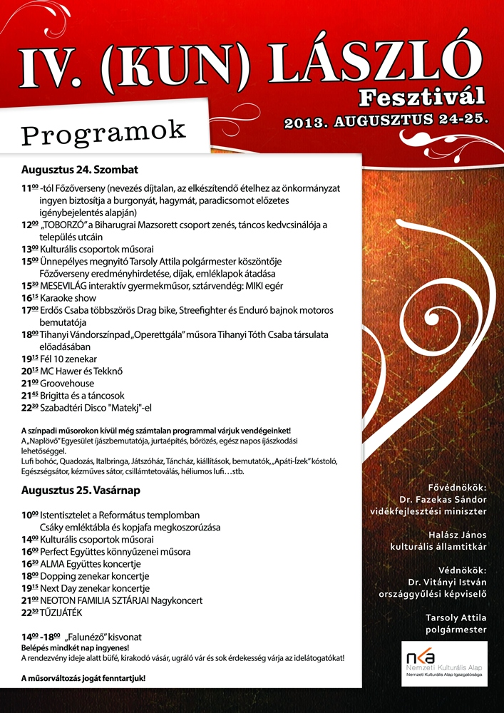 Kunlaszlo program1
