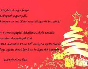 Karácsonyi megíivó 2014